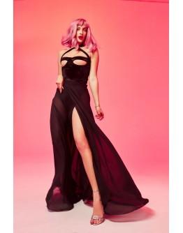 Платье в сетку с изображением костей SKELETON BONE NET DRESS